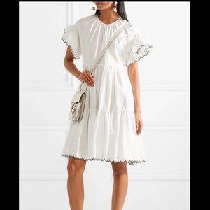 Ulla Johnson Rosemarie White Tiered Dress